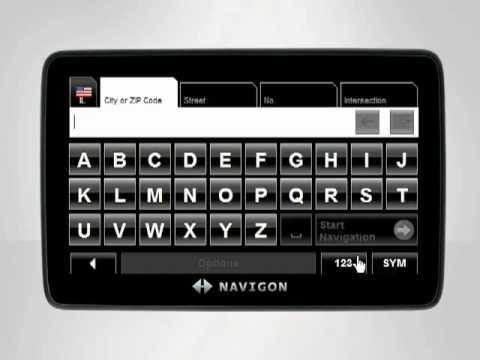 Entering a Destination - NAVIGON Video Tutorial