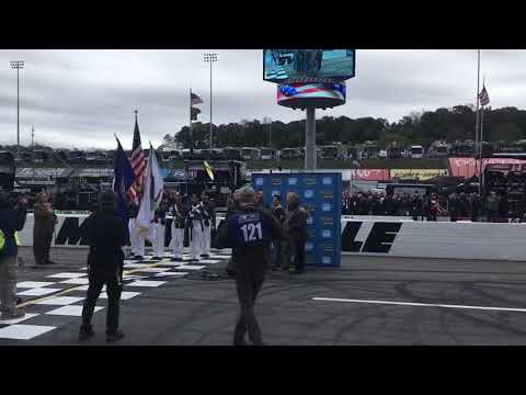 Gaither Vocal Band sings National Anthem NASCAR First Data 500 (October 29, 2017)