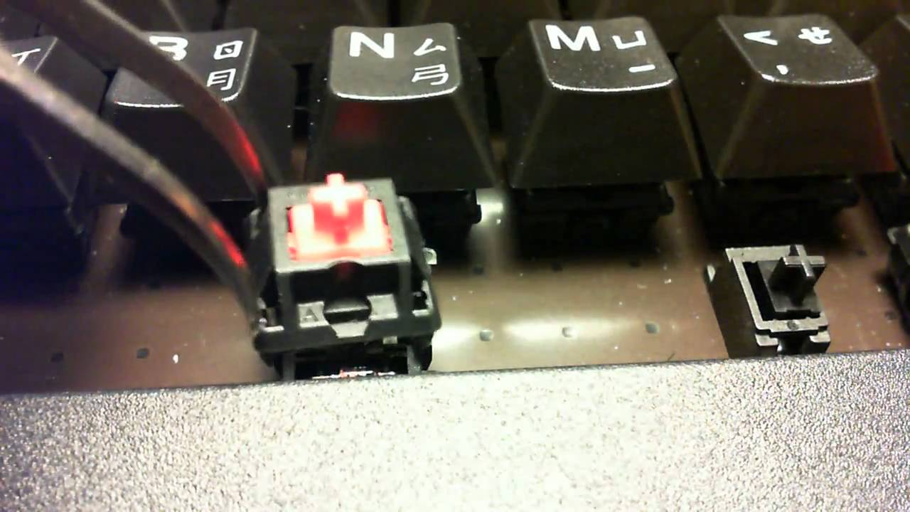 how to change corsair k50 switches