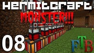 Hermitcraft FTB Monster Ep 8 - Got Power !!!