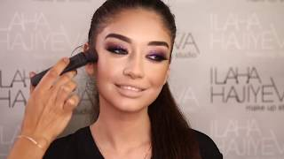Ilahe Haviyeva dan Qliterli smoky eyes