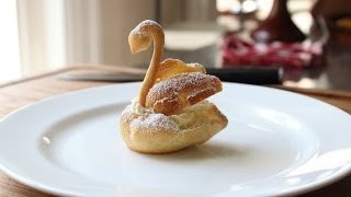 Chocolate Cream Puff Swans - How to Make Swan Cream Puffs for Mother
