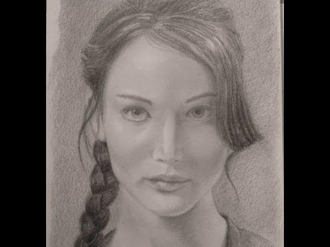 Cómo hacer un retrato: Jennifer Lawrence  (Juegos del Hambre)- Arte Divierte.
