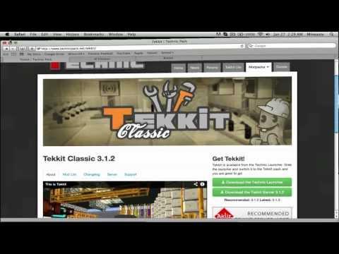 How To Make A Tekkit Classic Server 3.1.2 [Mac]