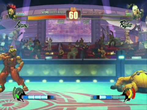 Street Fighter 4 IV PC Gameplay video with Super Saiyan Akuma