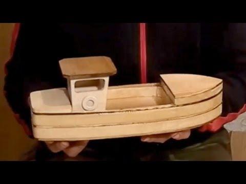 Wood Toy Plans - Stojanovic Fishing Boat - YouTube