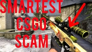 SMARTEST CSGO SCAM EVER! (KNIFE LOST)