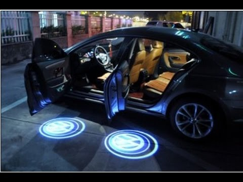 LED проектор логотипа для автомобиля. Очень крутая вещь!