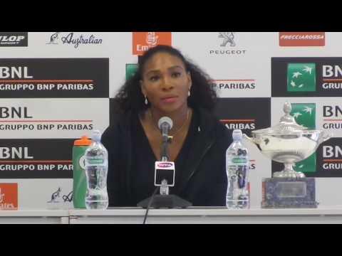 """Serena Williams festeggia in italiano: """"Roma è nel mio cuore"""""""