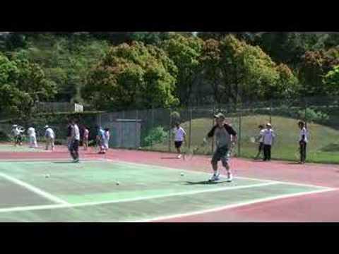 JVC久里浜テニス部070414 練習風景