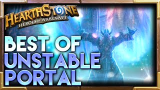 Unstable Portal Hearthstone Moments | Hearthstone Funny Lucky Best Plays Highlights