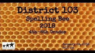 School District 103 Spelling Bee 2018