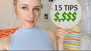 15 TIPS TO STOP SPENDING & START SAVING MONEY
