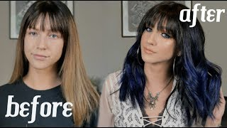 I DYED MY HAIR BLUE!! + FESTIVAL HAIR TUTORIAL