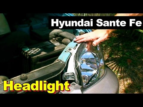 2003 Hyundai Sante Fe Headlight Replacement