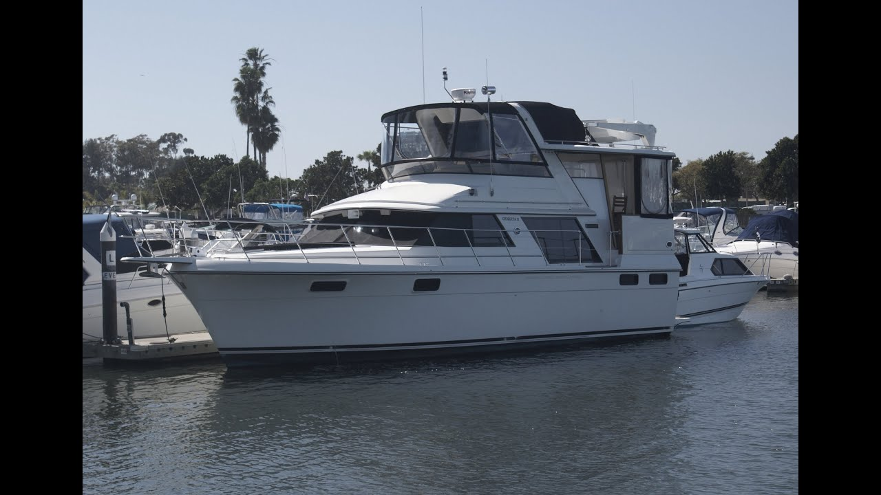 Carver 42 Aft Cabin Motor Yacht Deck Amp Bridge Tour Video