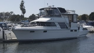 Carver 42 Aft Cabin Motor Yacht Deck & Bridge Tour Video by @ South Mountain Yachts