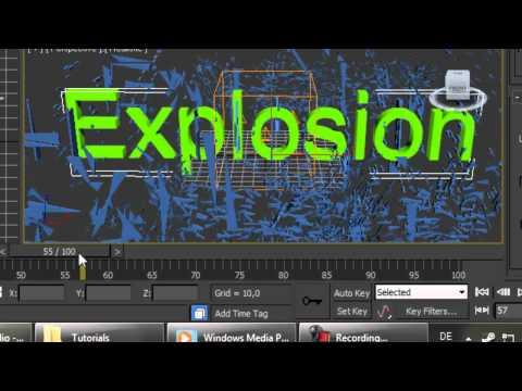 TextExplosion Tutorial 3ds Max [German]