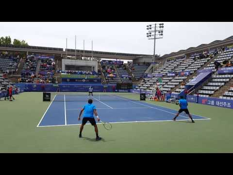 [Cort level view]LEANDER PAES &SAM GROTH