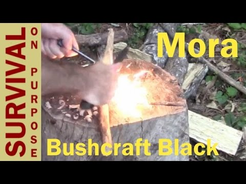 Mora Bushcraft Black Survival Knife Review - Survival Knives