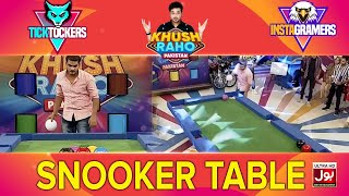 Snooker Table | Khush Raho Pakistan Instagramers Vs Tick Tockers | Faysal Quraishi
