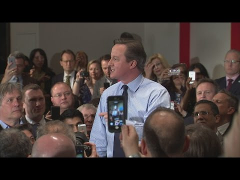 Election 2015: a 'pumped up' David Cameron