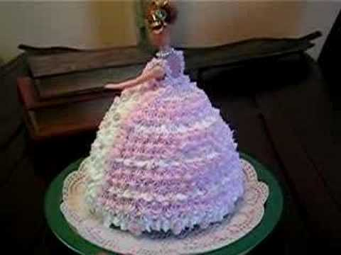 Barbie Doll Cake Decorating Ideas : Cake Decorating - How to decorate a Doll Cake (Princess ...
