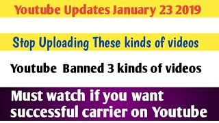 Youtube Updates January 23 2019 || Latest Youtube Updates