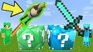 Minecraft: DIAMOND VS EMERALD LUCKY BLOCK CHALLENGE! - Modded Mini-Game