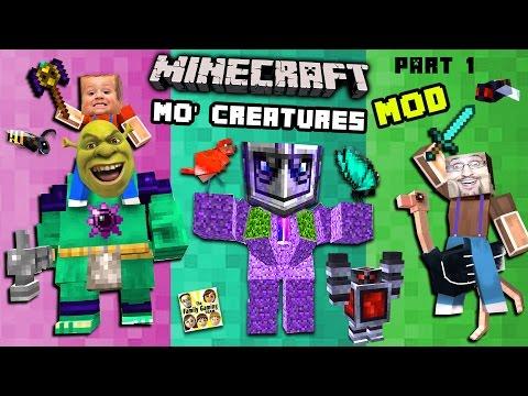 BIG GOLEM interrupts MO' CREATURES MOD showcase!  THIS MEANS WAR! (FGTEEV Minecraft)