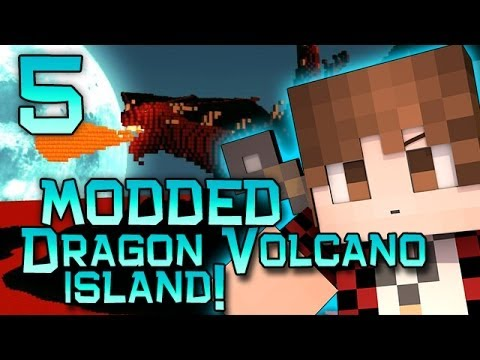 Minecraft: Dragon Volcano Island Modded! w/Mitch Jerome and Ryan! Part 5 - SCORPION BOSS PIT!