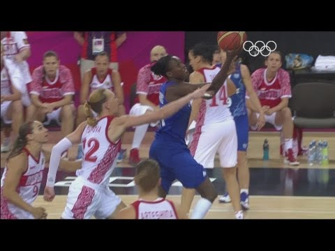 Russia take on France at the North Greenwich Arena in the semi-finals of the women's basketball tournament at the London 2012 Olympic Games. Subscribe to the...