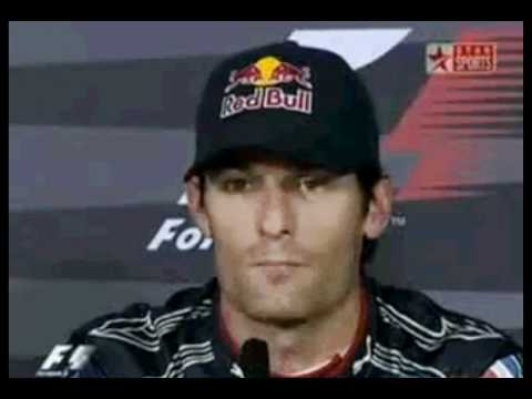 Mark Webber thinks Kimi Räikkönen is drinking Vodka