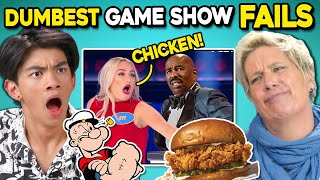 Generations React To Dumbest Game Show Answers (Family Feud Popeye's Chicken, Wheel Of Fortune)