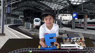 Alphabet Train | Words Beginning with F | ABC Learning for kids with the cargo Train