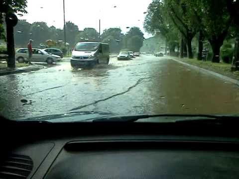 Powódź W Lublinie, Rzeka Na Ul. Głębokiej