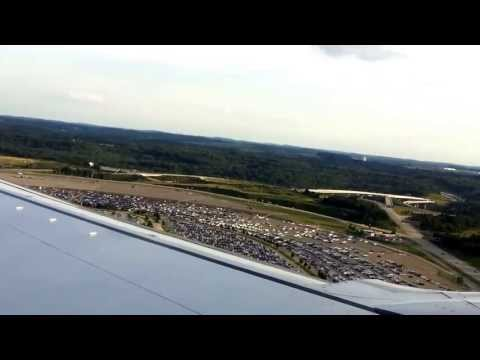 Southwest Boeing 737-700 Takeoff roll from Pittsburgh International Airport (PIT)