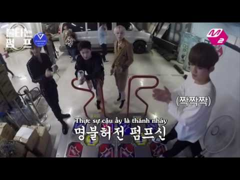[Vietsub] Monsta X PUMP! (feat. SEVENTEEN) @ Mnet Backstage