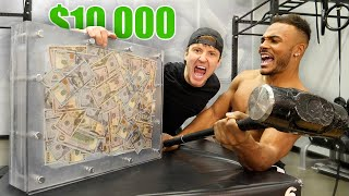 $10,000 IF ANYONE CAN BREAK THE BOX!! (UNBREAKABLE GLASS CHALLENGE)