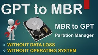 How to convert GPT Disk to MBR Disk without data loss? in Urdu / Hindi