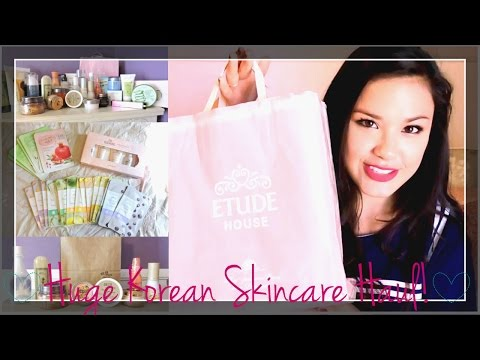 Pt. 1 HUGE Korean Skincare Haul ♥ Etude House. Skin Food. Innisfree. Holika Holika and more!