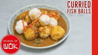 Hong Kong Style Fish Balls in Chinese Curry Sauce!   Wok Wednesdays