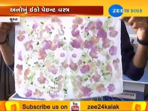 Surat: Budding fashion designers produce eco-paint fabric to beat the heat - Zee 24 Kalak