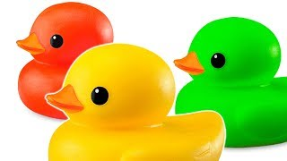 Rubber Ducks at the Swimming Pool - Nursery Cartoon Animation Video