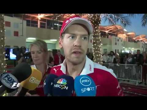 F1 Bahrain Grand Prix 2016 After race interviews Sebastian Vettel