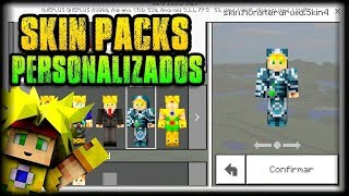 MINECRAFT PE 1.2 - COMO HACER SKIN PACKS PERSONALIZADOS GRATIS! - SKINS (Android)