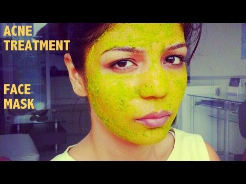 How To Cure Acne,Spots marks: Home Remedy For Acne Clearing and Clear Skin,Turmeric Neem face Pack