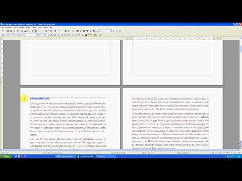 Hausarbeiten formatieren mit OpenOffice Teil 5: Automatisches Inhaltsverzeichnis