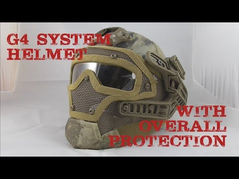 AIRSOFT   REVIEW   TBC   G4 System/Set PJ Helmet with Overall Protection AT ( ENGLISH SUBS )