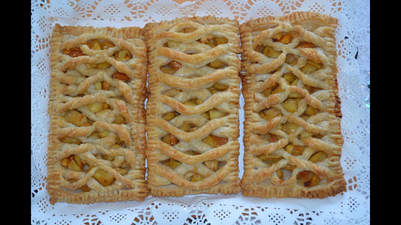 Яблочный штрудель из дрожжевого теста рецепт пошагово в духовке